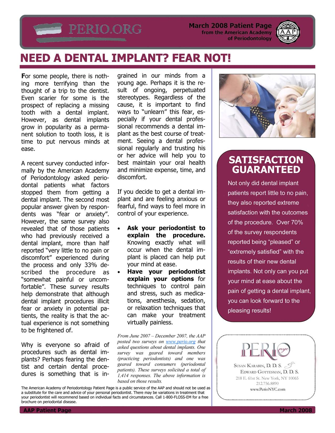 Need A Dental Implant?  Fear Not!