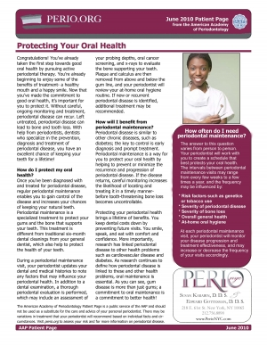 Protecting your oral health