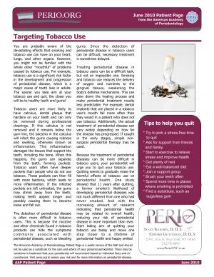 Targeting tobacco use