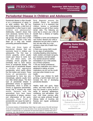 Children and Periodontal Disease