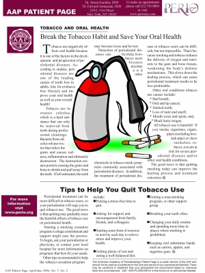 Oral Health and Tobacco