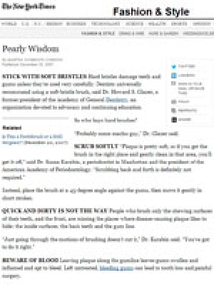 New York Times: Pearly Wisdom