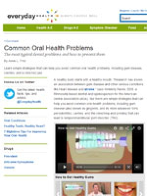 Common Oral Health Problems