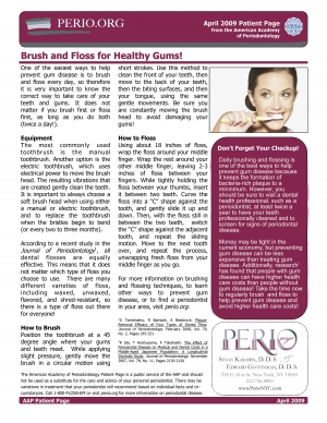 Brush and Floss for healthy gums