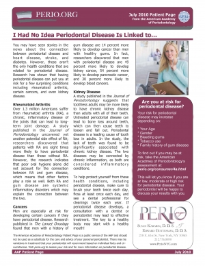 I Had No Idea Periodontal Disease Is Linked To...