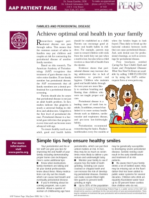 Families and Periodontal Disease